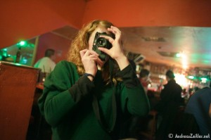 At last we landed in Salim's, Nesch's favourite bar in the city. Silvia trying my Leica, which suits her really well.